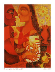 Love Song (Paul N Grech) Tags: music art love painting movement couple energy piano surreal jazz romance musical oil pianist cubist cubism paulgrech