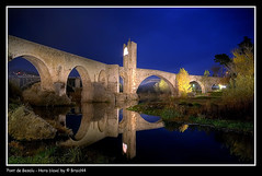 Besalu's bridge - Blue Hour ( Pere Soler) Tags: bridge tower night landscape puente town village pont bluehour 1020mm garrotxa besalu supershot heurebleue allrightsreserved flickrsbest goldenmix abigfave worldbest horaazul isawyoufirst diamondclassphotographer theothervillage braid44 thegoldenmermaid wonderfullworldmix thegardenofzen peresoler