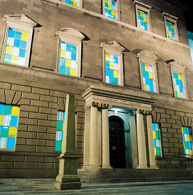 Daniel Buren '3 Colors for a Facade in Dublin' 2006