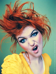 Give me a comb (basistka) Tags: portrait woman girl expression poland redhead facial basistka