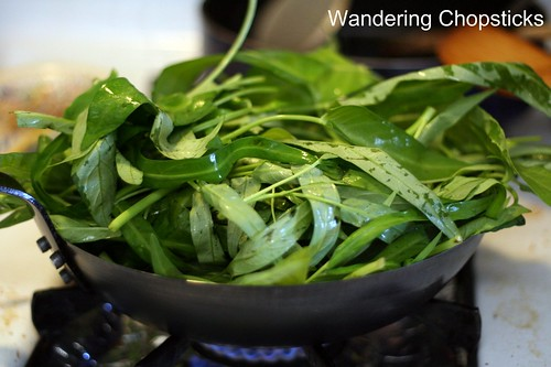 Kangkong Belacan (Malaysian Stir-Fried Water Spinach with Shrimp Paste) 5