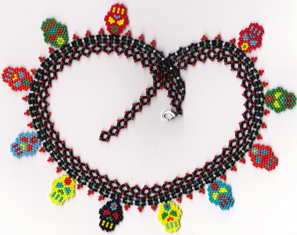 Day of the Dead Netted Collar