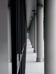 Narrow (C_MC_FL) Tags: vienna wien street lines architecture photography grey austria sterreich construction fotografie view pov geometry perspective grau repetition architektur fujifilm tu narrow perspektive endless repeating geometrie durchblick konstruktion linien endlos schmal strase wiederholen s100fs stadtgetty2010 gettyimagessalq1