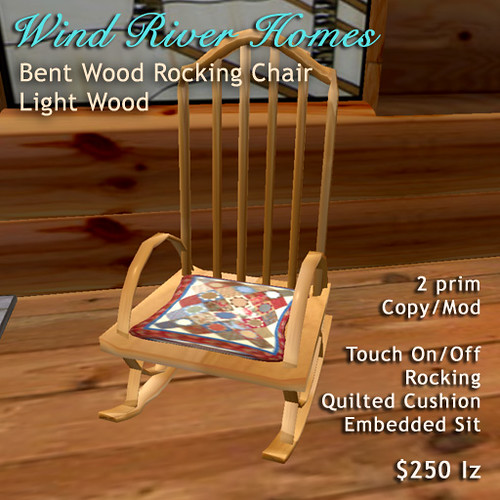 Bent Wood Rocking Chair - Light Wood by Teal Freenote