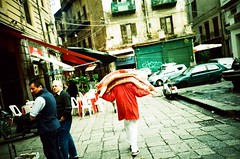 ... (icomewhenieatcaponata) Tags: camera italien red people italy film analog 35mm toy blood lomo lca xpro lomography italia fuji cross market toycamera ground iso pork butcher 200 processing sicily palermo sicilia sensia   sizilien vucciria        ka     peppopeppo  puddicinu