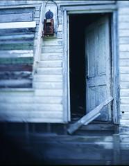 keep the light on (birdcage) Tags: abandoned westvirginia 4x5 cass e6 largeformat companytown companyhouse calumetmonorailcamera loggingtown