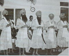 Punj Pyare [scan from khalsa school yearbook] (gurjeet kaur) Tags: