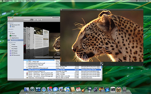 quicklook mac os x leopard by Shht!.