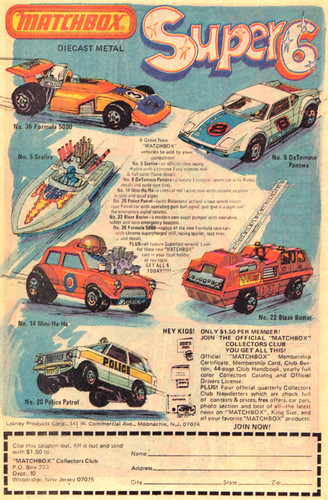 Vintage Ad #268: Matchbox Super 6