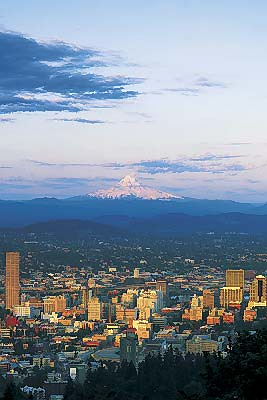 Downtown Portland, Oregon & Mt. Hood by travelportland.