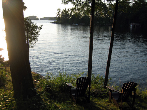 Saturday Muskoka Chairs at Sunset