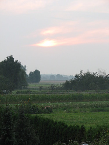 Sonnenaufgang hinter Wolken