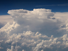 Thunderstorm from the plane - by Anita363