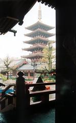 asakusa five story pagoda 2 (winninator) Tags: film japan temple sensoji tokyo pagoda frame asakusa kannon cotcbestof2006