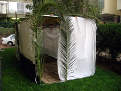 A Sukkah as you will find in streets across Israel, by RonAlmog, on Flickr