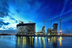 Blue Hour (Asim237) Tags: blue night manchester media shot centre salfordquays bbc hour quays salfor