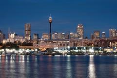 Sydney skyline at twilight