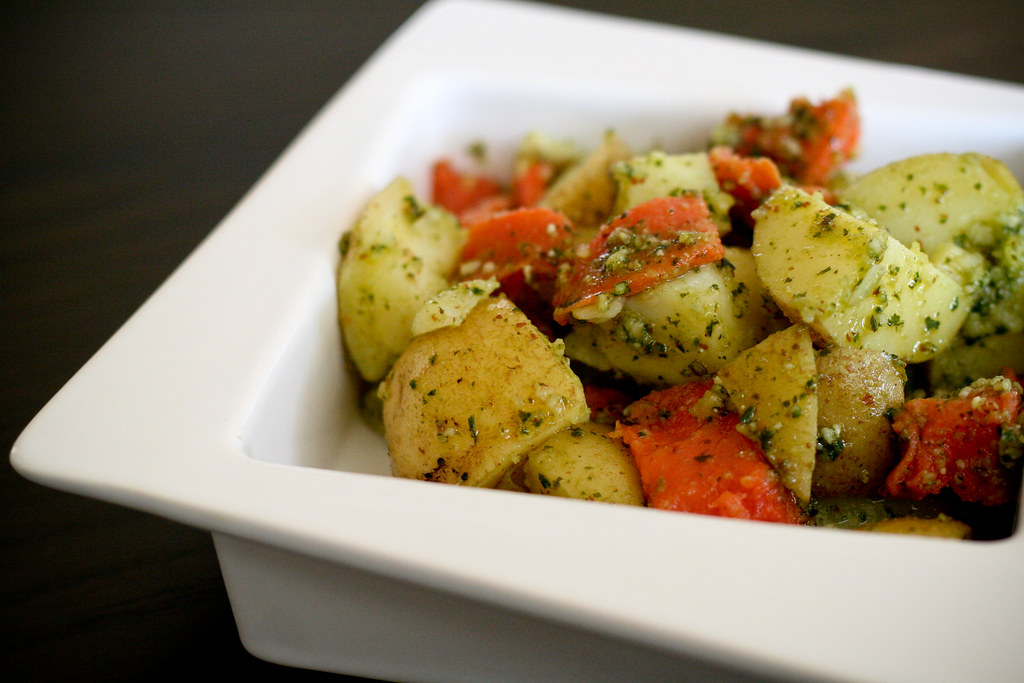 Pesto & Smoked Salmon Potato Salad