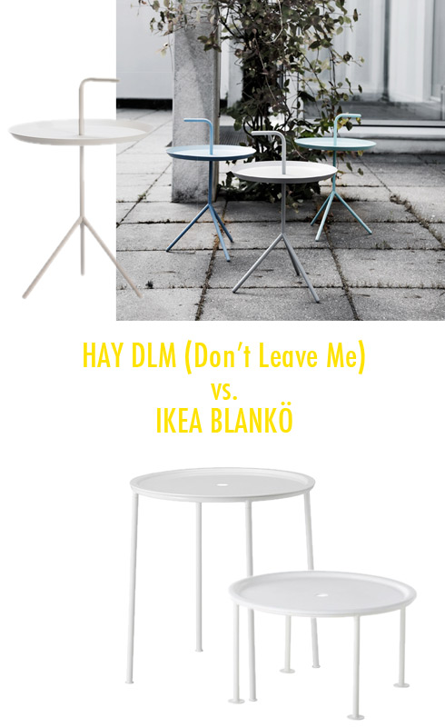 Hay DLM (Don't Leave Me) Table and Ikea Blankö