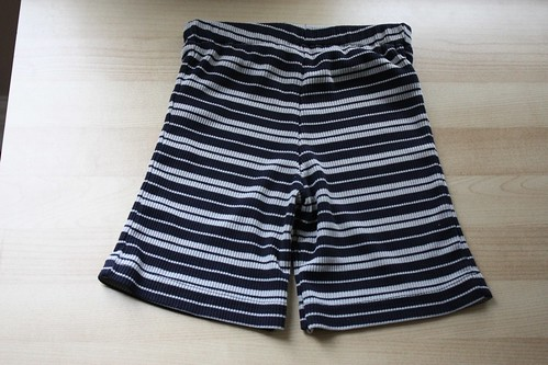 shorts refashioned from old t-shirt