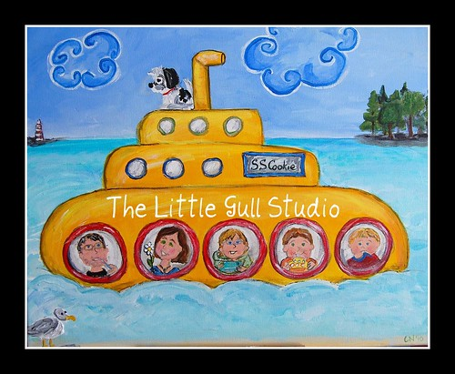 Our family in a yellow submarine