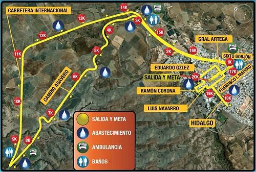 Ruta Medio Maratón Tequila Cuervo