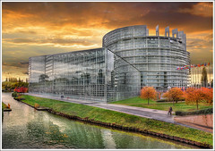 Parlement Europen (Jean-Michel Priaux) Tags: france art monument architecture photoshop construction europe country strasbourg alsace future pays hdr anotherworld futurist unioneuropenne priaux parlementeuropen