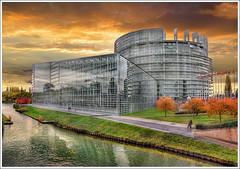 Parlement Européen (Jean-Michel Priaux) Tags: france art monument architecture photoshop construction europe country strasbourg alsace future pays hdr anotherworld futurist unioneuropéenne priaux parlementeuropéen