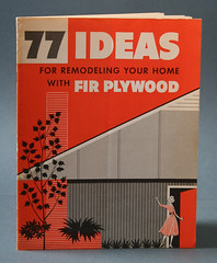 77 Ideas - Douglas Fir Plywood Booklet (Javier Garcia Design) Tags: architecture illustration graphicdesign blog ephemera 1950s 50s interiordesign nbb midcenturymodern modernhouses modernhome vintagedesign leisureliving nobarcode douglasfirplywoodassociates 77ideas nobarcodeblog