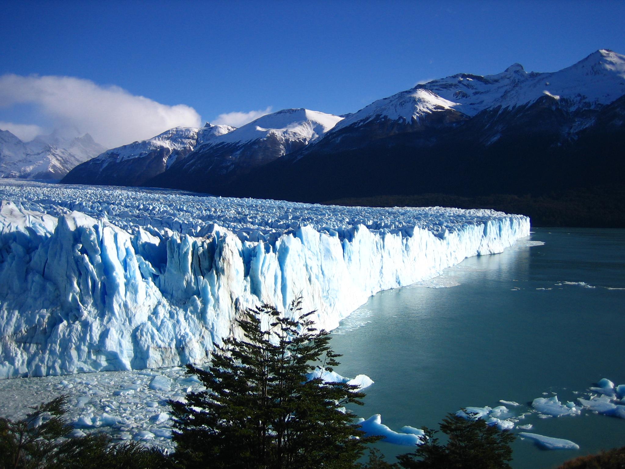 Pierwszy widok, jaki oferuje Lodowiec Perito Moreno