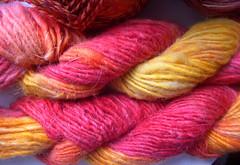 Frolic 'n Fibers Llama Wool Handdye