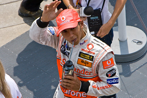 USGP 2007 - Lewis Hamilton Waves by ChrisMRichards.