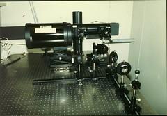 Receiver Optics Bench Setup Holmdel Lab 85 (grogley) Tags: film newjersey bell labs holmdel att fso loson belllaboratories freespaceoptics