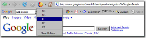 google global firefox extension