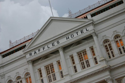 Raffles Hotel - a Singaporean institution.