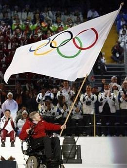 Waving Olympic Flag