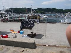 山田港にて