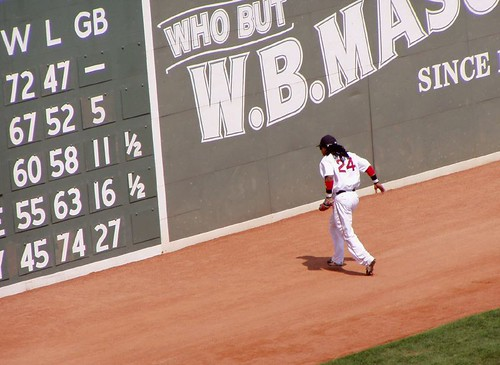 Manny Makes the catch by you.