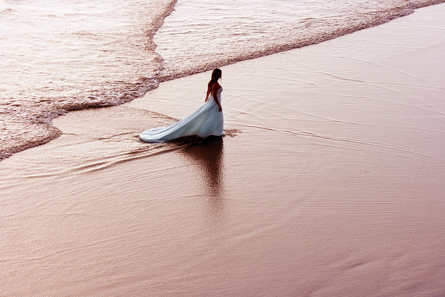Bride at Low Tide