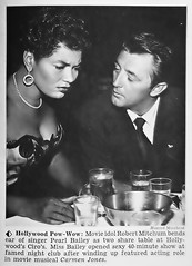 "Robert Mitchum Eyes Pearl Bailey's ""Assets"" - Hue Magazine, November, 1954 (vieilles_annonces) Tags: old people usa black history vintage magazine print scans fifties photos african negro retro nightclub ephemera nostalgia photographs american rights hollywood 1950s blacks americana colored 50s magazines folks oldphotos civilrights blackhistory vintagephotos africanamericanhistory robertmitchum peopleofcolor vintagephotographs ciros vintagemagazine coloredpeople pearlbailey negrohistory carmenjones coloredfolk blackmagazines blacknews pearlbaileysassets"