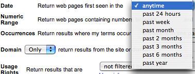 Google Date Search