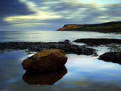 Robin Hoods Bay, North Yorkshire (Corica) Tags: uk greatbritain sunset sea england seaweed water rock clouds movement britain yorkshire casio northsea whitby scarborough northyorkshire robinhoodsbay ravenscar p600 corica casioexp600 aplusphoto cf2007nov