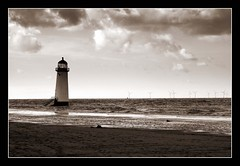 (andrewlee1967) Tags: uk england blackandwhite bw lighthouse monochrome wales landscape mono seaside bravo talacre andrewlee canon400d andrewlee1967 superaplus aplusphoto focusman5