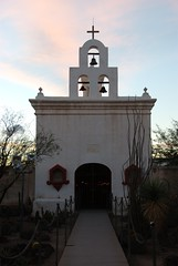 San Xavier del Bac Mission (S Migol) Tags: sunset vacation church geotagged catholic pentax roadtrip mission bluehour tucsonaz ufraw sanxavierdelbacmission southernarizona smigol pentaxk10d smcpda1650mmf28edalifsdm stephenmigol december242008