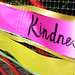 'Kindness' ribbon on railing