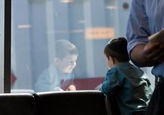 Wonderment (JTRoboPhoto) Tags: boy reflection glass happy airport dreaming laguardia jew jewish wonderment lga amazed laguardiaairport enthused jewishboy