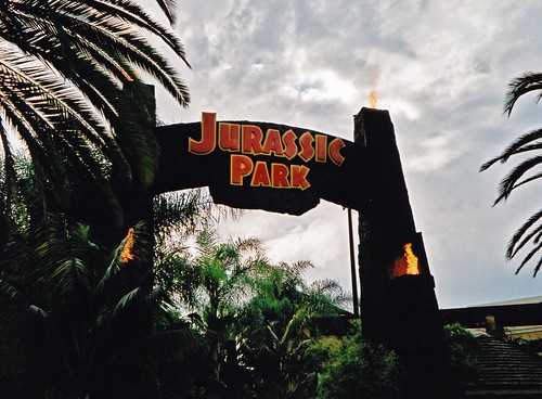 Universal Studios Los Angeles in 2000 Jurassic Park Sign