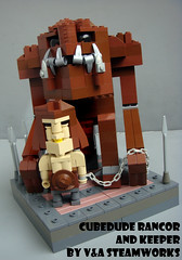 CubeDube Rancor and Keeper (V&A Steamworks) Tags: star lego bricks contest rancor va wars steamworks keeper moc bothans
