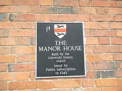 Photo of The Manor House and Greswold Family black plaque