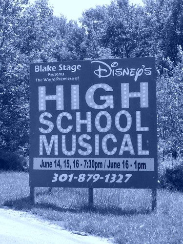 High School Musical Sign (Which Is Blue)